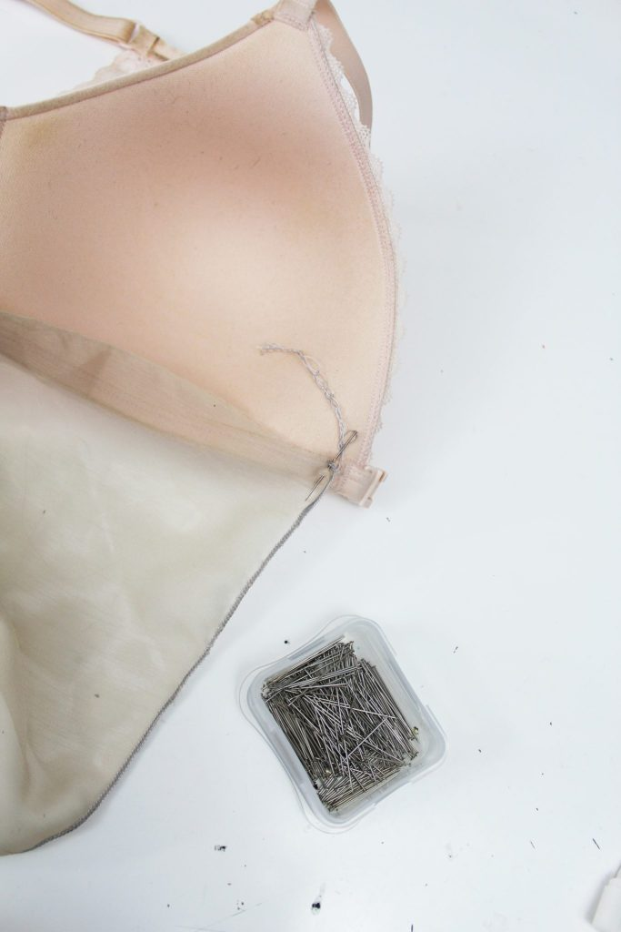 Turn an old bra into an easy babydoll DIY lingerie..