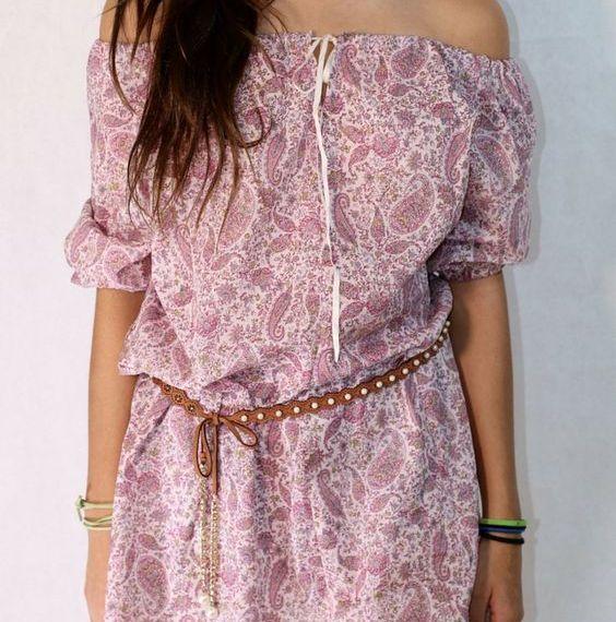 Simple Easy DIY Boho Chic Dress sewing tutorial DIY