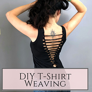 diy tshirt weaving