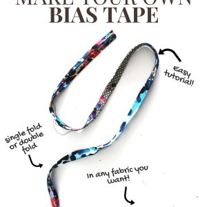 How To Make your own bias tape instructions