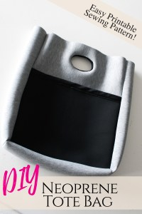 How to make a neoprene tote with easy beginner sewing pattern