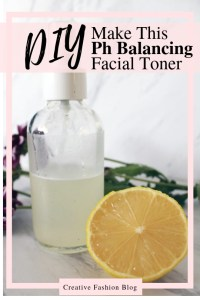 Ph Balancing Lemon and witch hazel natural beauty recipe facial toner