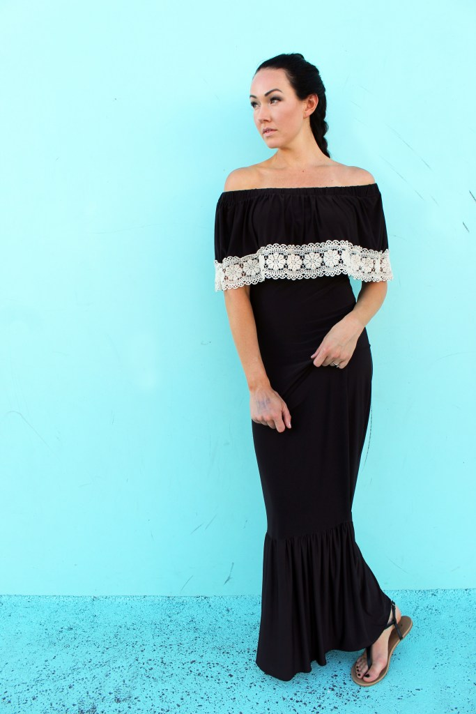 recycled clothing ideas: lace maxi dress