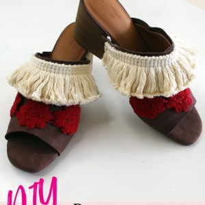 How to add embellishments to your old shoes A boho refashion tutorial