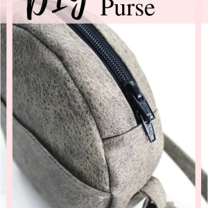 Your step by step guide to bag making with this circle purse.