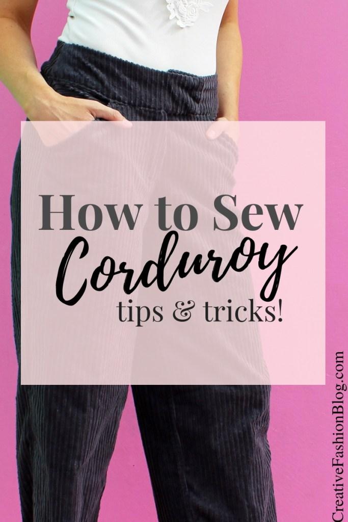How to sew corduroy