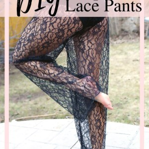 finished lace pants tutorial