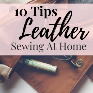 How to sew leather with an at home sewing machine the easy way!!!