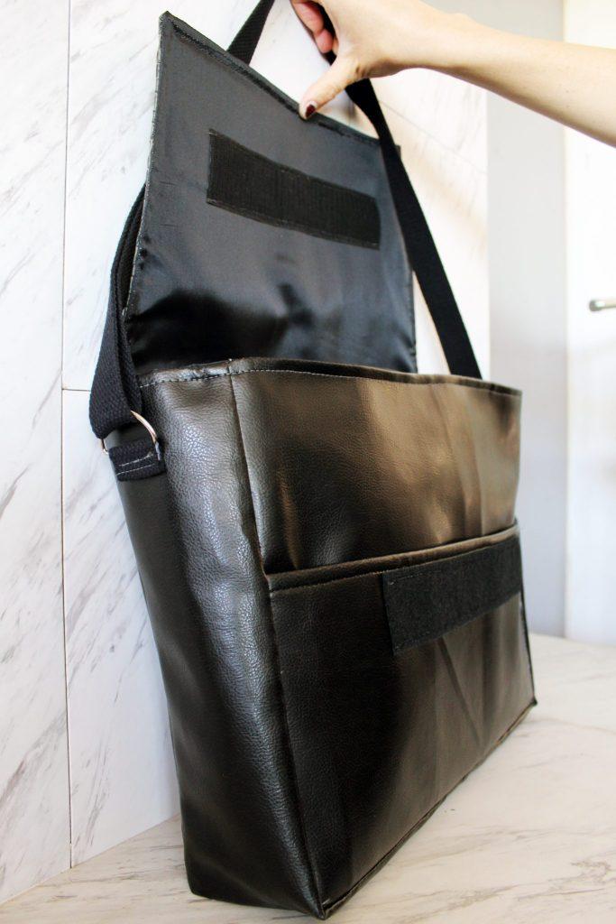4 finished DIY messenger bag