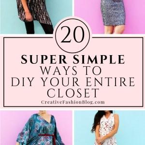 20 easy ways to DIY clothes your entire closet