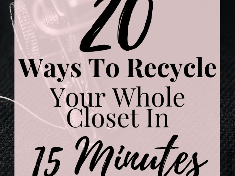 20 ways to recycle old clothes in just 15 minutes!.