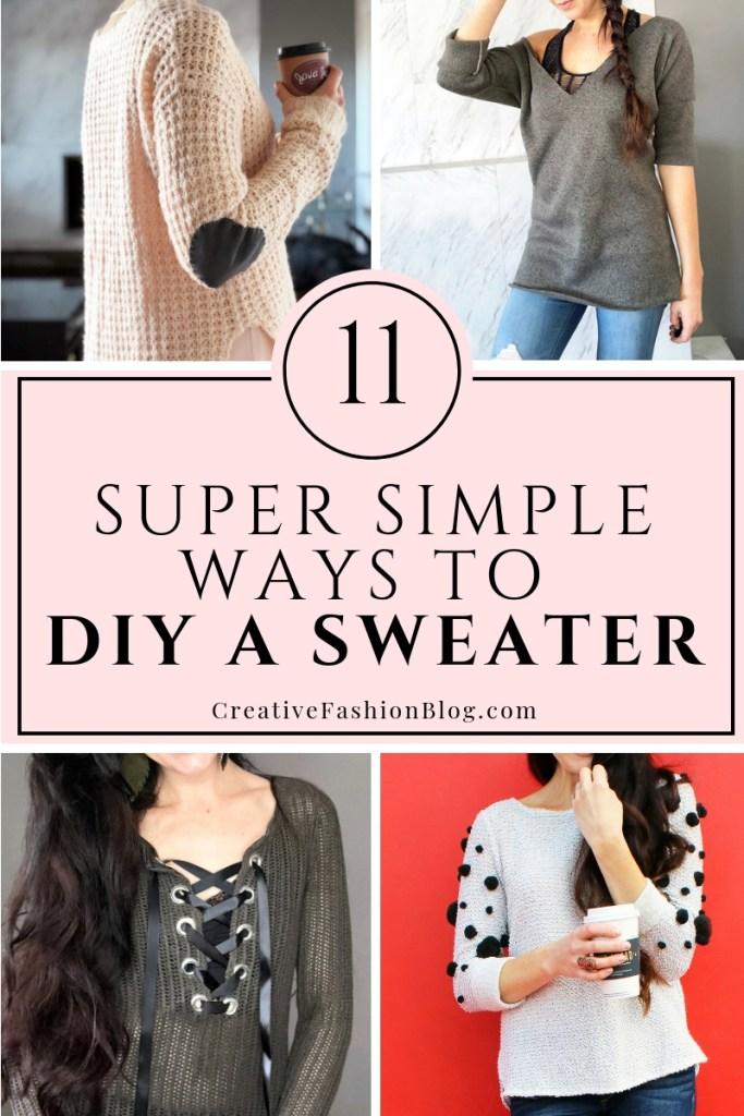 11 simples chandails de bricolage refaire des idées pour les femmes