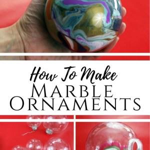 diy acrylic marble Christmas ornaments