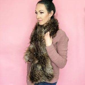 easy faux fur pull through scarf