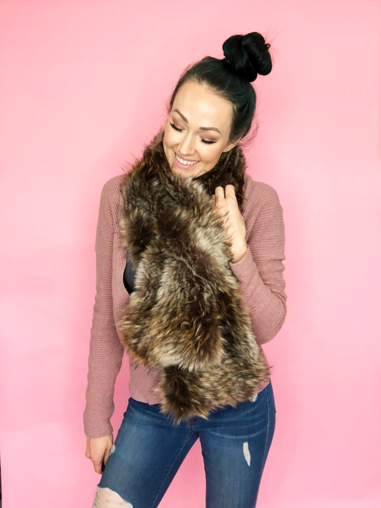 easy faux fur pull through ..
