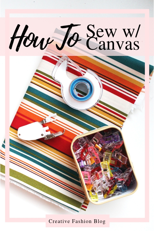 sewing canvas tips and tricks