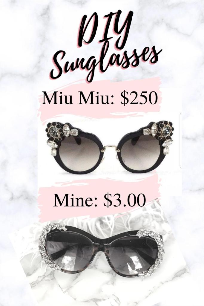Miu Miu DIY sunglasses