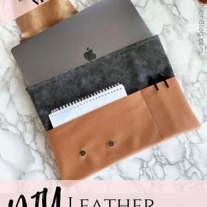 how to make a leather custom laptop sleeve from scratch