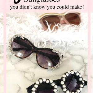 designer DIY sunglasses you can make from broken jewelry
