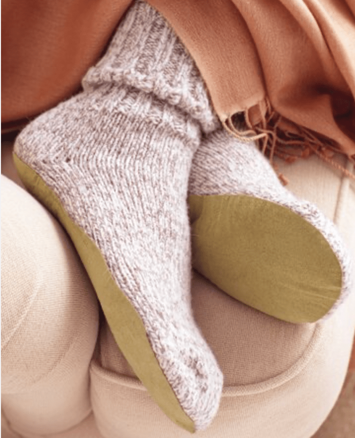 no sew slipper socks