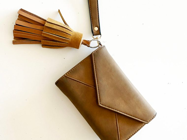 how to make a DIY leather tassel keychain to make and sell