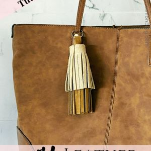 How to make a no sew DIY leather tassel keychain to make and sell