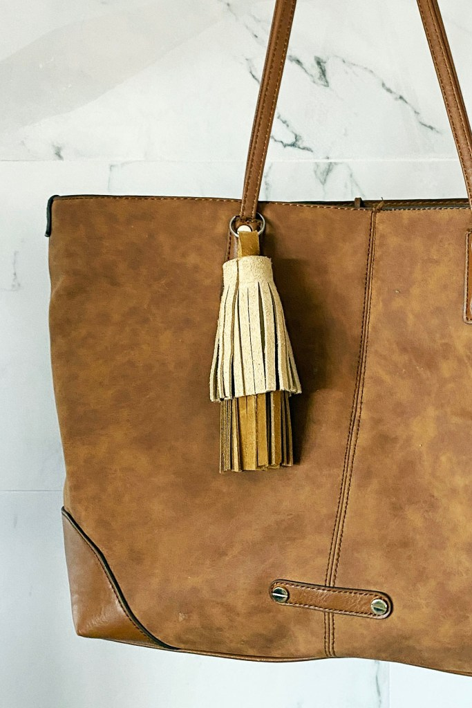 How to make a DIY leather tassel keychain