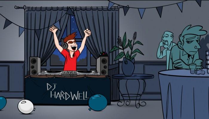 I am Hardwell ingekleurde tekening Hardwell