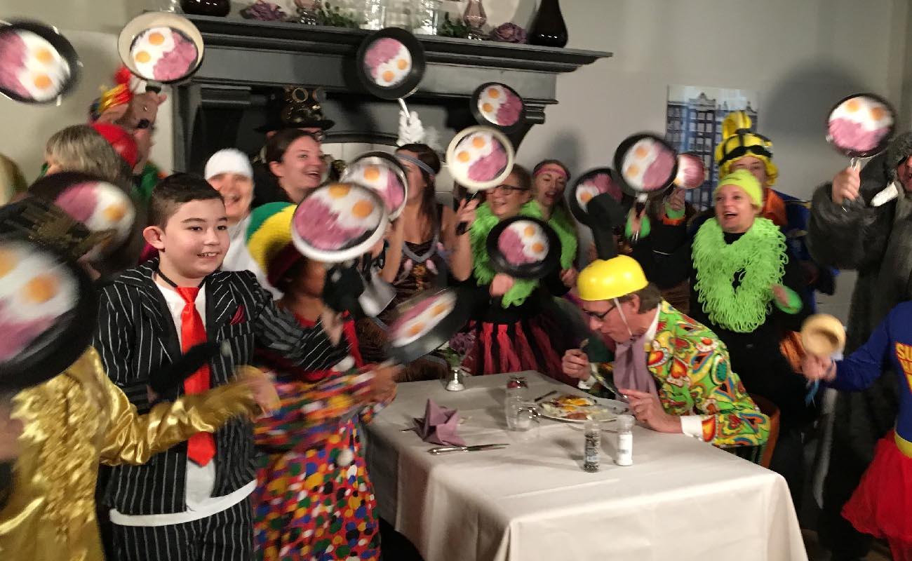 Huub Hangop opname ham & eggs