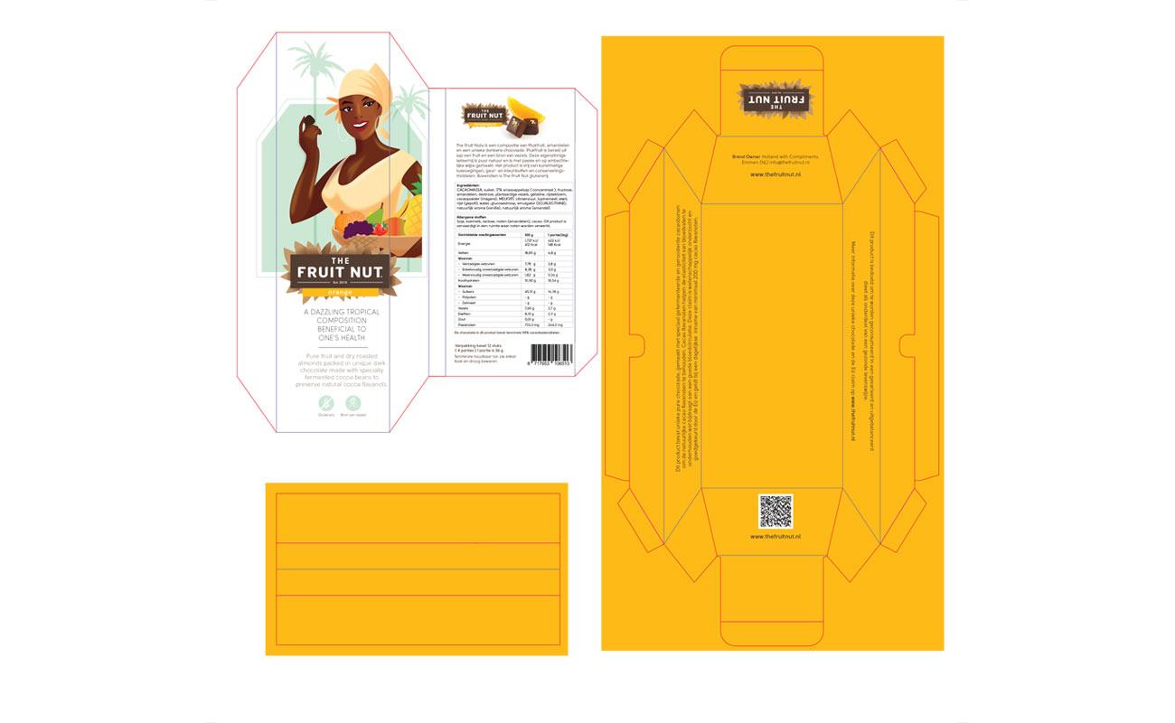 Fruitnut verpakking ontwerp