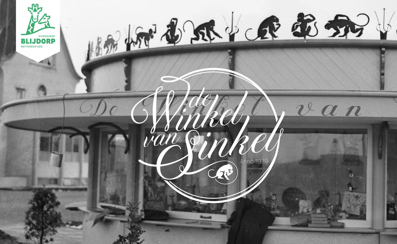 Diergaarde Blijdorp Winkel van Sinkel zwart-wit met logo
