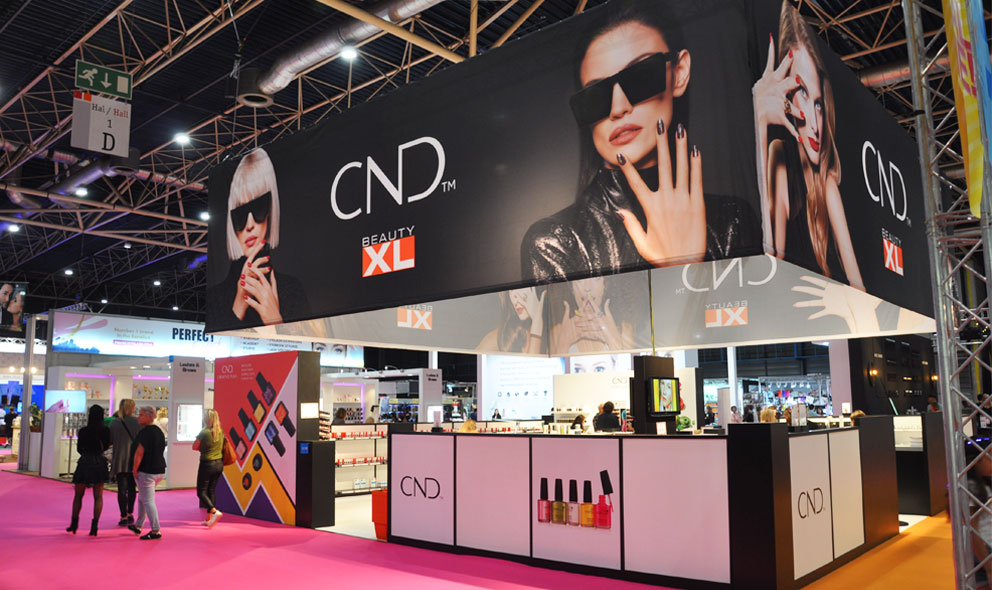 CND Beauty XL beursstand voorkant