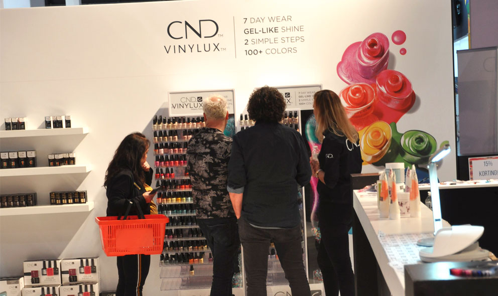 CND Beauty XL beursstand nagellakhoek