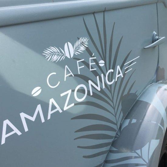 Diergaarde Blijdorp Café Amazonica foodtruck logo op deur