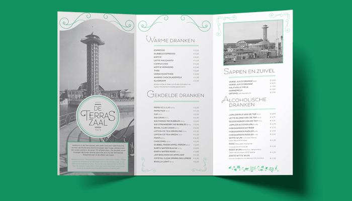 Diergaarde Blijdorp de Terraszaal menukaart