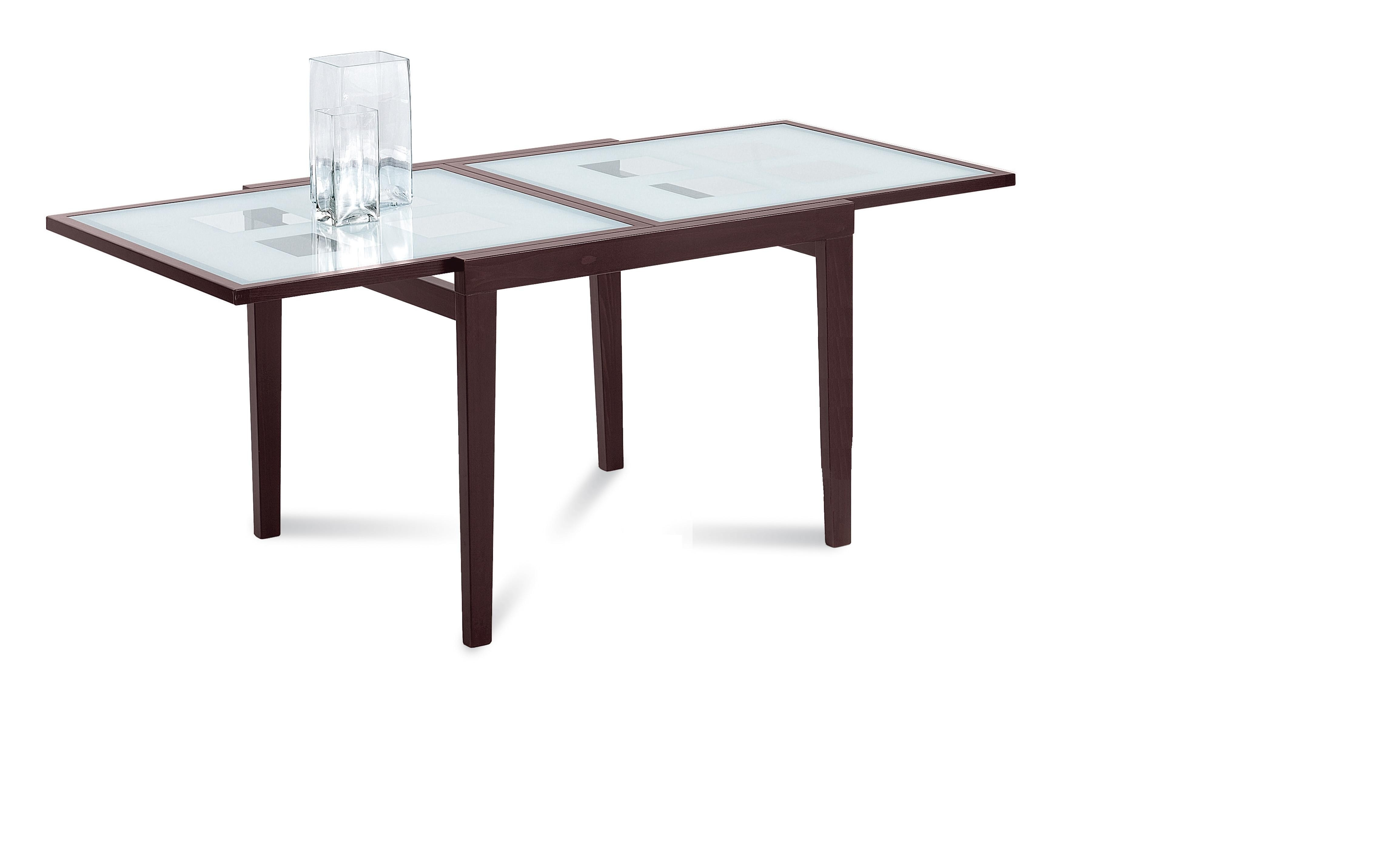 DomItalia Poker 120 Extendible Dining Table In Walnut