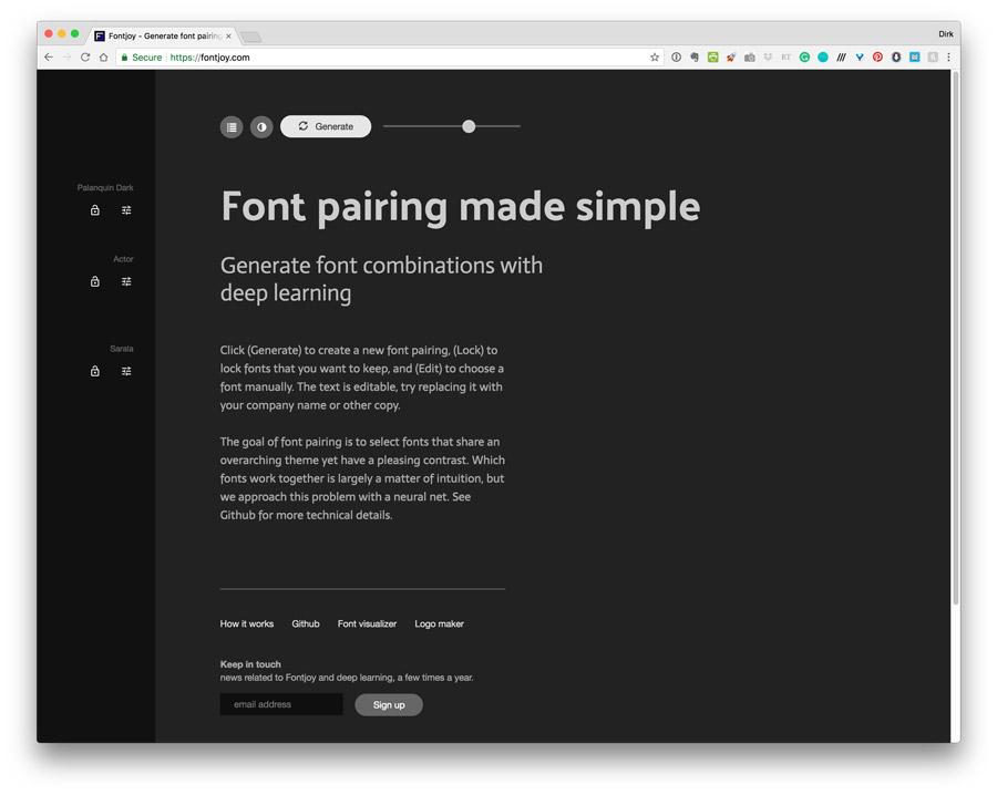 fontjoy---font-pairing-website-using-ai