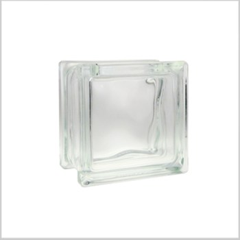 Clear glass block glass vase
