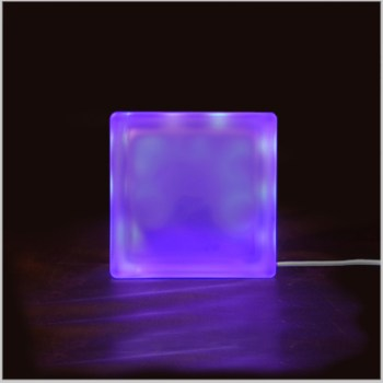 LED light glass block night light