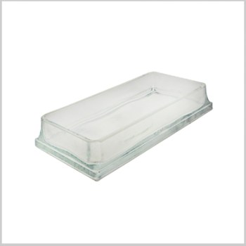 Rectangle glass serving tray