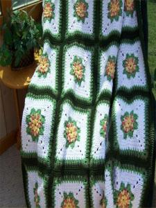 # 502 Double Popcorn Floral Afghan Pattern (Free Pattern)_PIC
