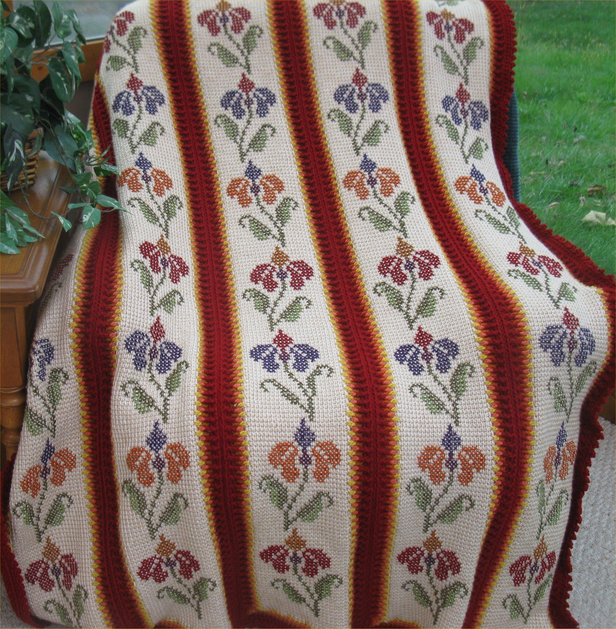 Flaming Floral Afghan Pattern 509 Instructions Creative Grandma