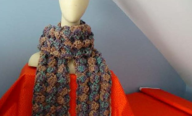 CG #132 Puff Shell Stitch Scarf PIC