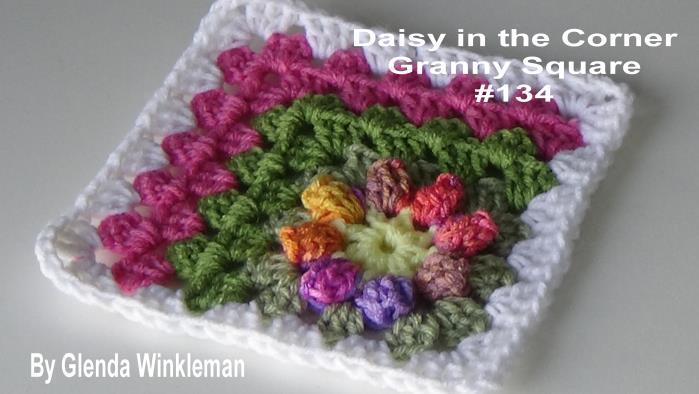CG #134 Daisy in the Corner Granny Square pic