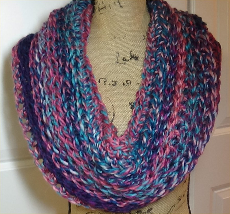 # 607 Chunky Wool Colors Cowl this one