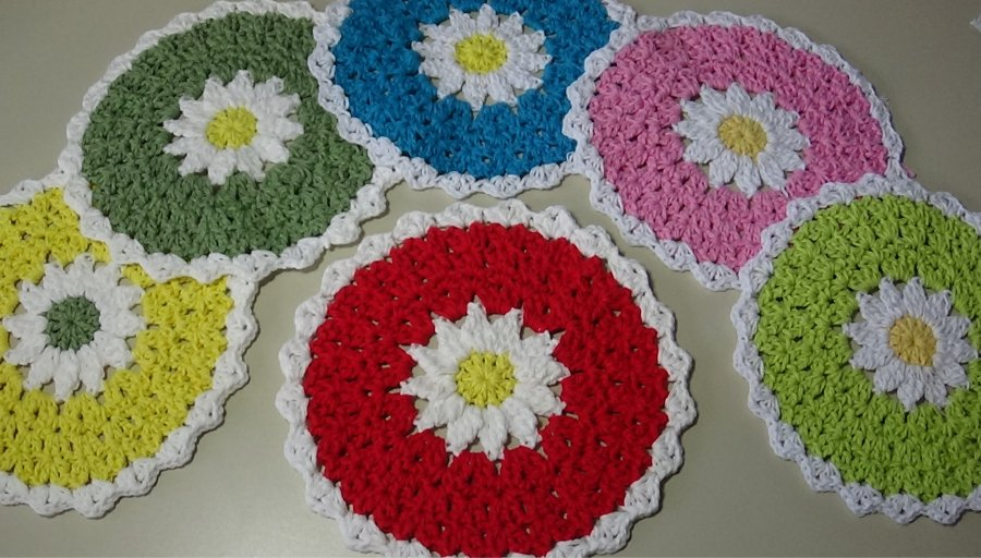 # 610 daisy dishcloth photo
