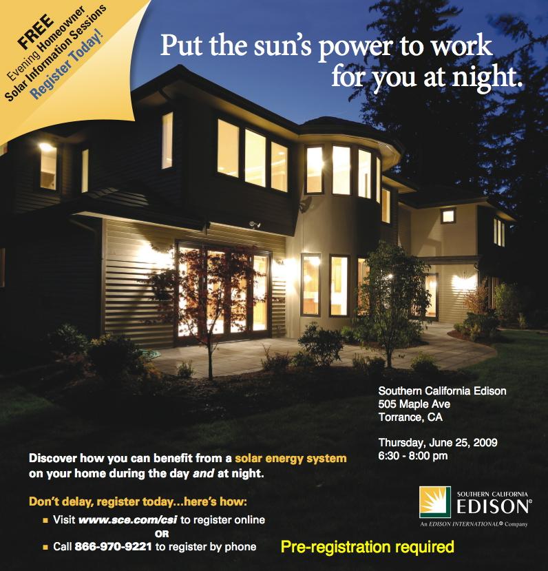 SCE solar workshop