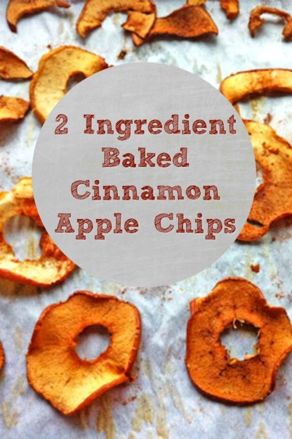 2 Ingredient Baked Cinnamon Apple Chips