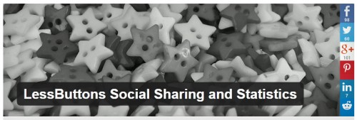 LessButtons Social Sharing and Statistics