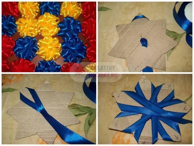 Bates mula sa mga ribbons gawin ito sa iyong sarili: ang pinakamahusay na mga ideya sa mga larawan